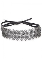 Fallon Monarch Chantilly XL Black Wrap Choker