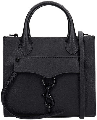 Rebecca Minkoff Hand Bag In Black Leather