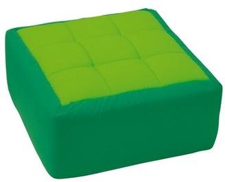 Wesco NA Cocoon Kids Floor Cushion Color: Light Green / Dark Green