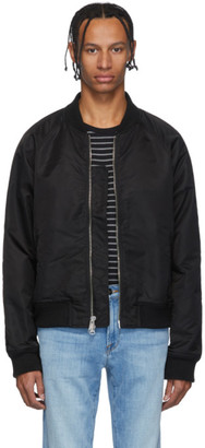 Frame Black Nylon Bomber Jacket