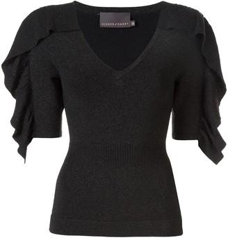 Ginger & Smart Revel knit v-neck top
