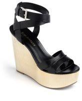 Enzo Angiolini Zamaz Leather Platform Wedge Sandals