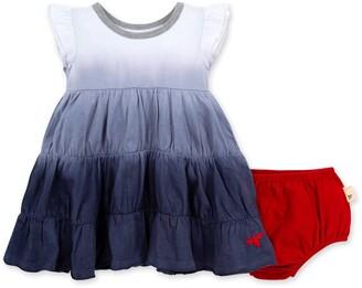 Burt's Bees Dip Dye Organic Baby Dress & Diaper Cover Set