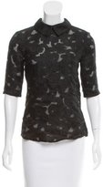Jill Stuart Embroidered Collared Top