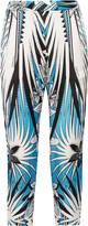 Just Cavalli Printed silk tapered pants