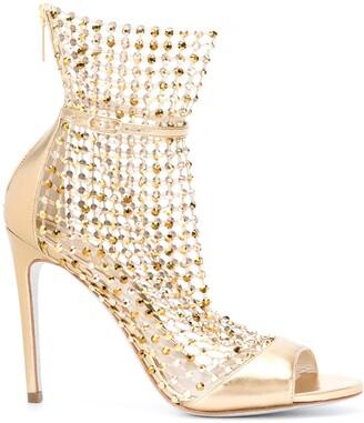 Rene Caovilla Chain-Mail Cage Sandals