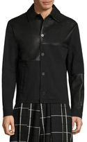 McQ by Alexander McQueen Leather-Blend Button-Front Jacket