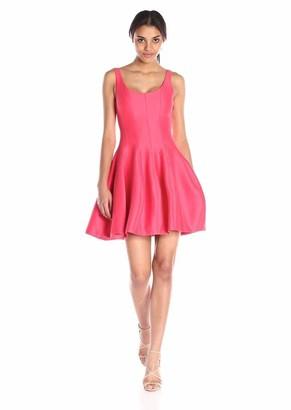 Halston Women's Silk Faille Tulip Dress