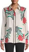Diane von Furstenberg Women's Silk-Blend Button-Front Shirt