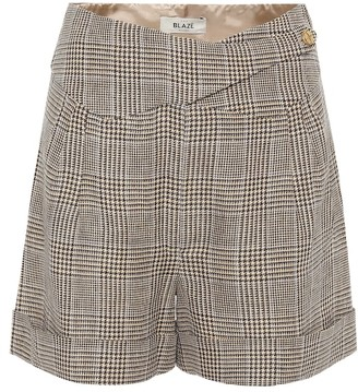 BLAZÉ MILANO Basque linen and wool shorts