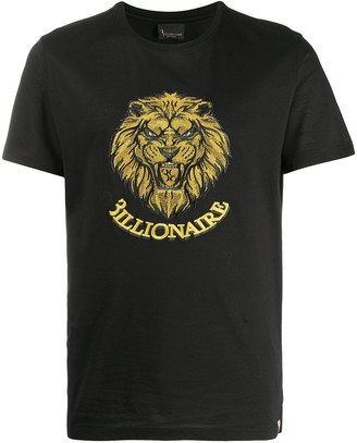 Billionaire embroidered graphic print T-shirt