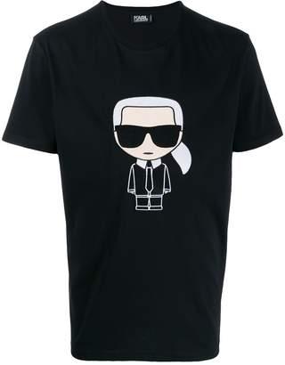 Karl Lagerfeld Paris Ikonik embroidered T-shirt