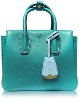 MCM Milla Park Avenue Oasis Green Leather Mini Tote