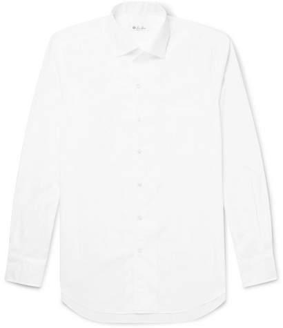 Loro Piana Andre Cotton-Poplin Shirt - White