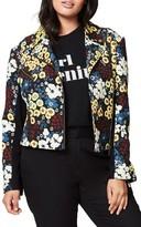 Rachel Roy Plus Size Women's Floral Moto Jacket