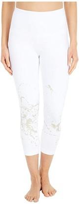 Lysse Juno Foil Crop Leggings in Cotton Spandex (Gold Splatter) Women's Casual Pants