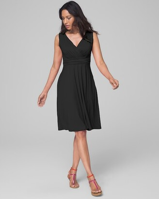 Soma Intimates Soft Jersey V Neck Dress with Built-In Bra