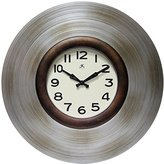 Infinity Instruments Mid-Century Clock, Silver