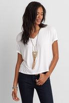 American Eagle Outfitters AE Soft & Sexy Sky High V-Neck T-Shirt