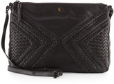 Elliott Lucca Woven Leather Crossbody Bag