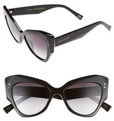 Marc Jacobs Women's 52Mm Cat Eye Sunglasses - Black