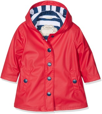 Hatley Girl's Splash Jacket Red (Red/Navy) 6 Years