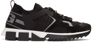 Dolce & Gabbana Black Lace-Up Block Sole Sneakers