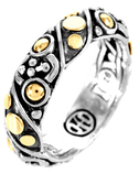 John Hardy Jaisalmer Dot Gold & Silver Twist Band Ring