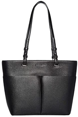 MICHAEL Michael Kors Bedford Medium Top Zip Pocket Tote (Black/Black) Tote Handbags