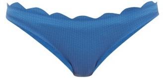 Marysia Swim Santa Barbara Scalloped Bikini Briefs - Womens - Blue