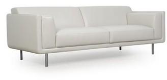Carnegie Genuine Leather Sofa Orren Ellis