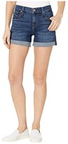 7 For All Mankind Relaxed Mid Roll Shorts in Broken Twill Plaza (Broken Twill Plaza) Women's Shorts
