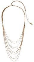 Steve Madden Multi-Strand Braided Chain Necklace