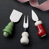 Crate & Barrel Holiday Cheese Tools Set of Three