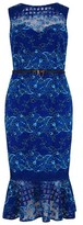 Dorothy Perkins Womens Paper Dolls Blue Two Tone Lace Midi Bodycon Dress, Blue