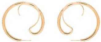 Panconesi Crystal Upside-Down Hoop Earrings