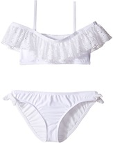 Ella Moss The Lover Ruffle Off Shoulder and Hipster with Ties Girl's Swimwear Sets