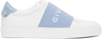 Givenchy White and Blue Elastic Urban Knots Sneakers