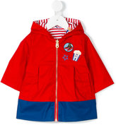 Little Marc Jacobs double hooded rain jacket - kids - Cotton/Polyester - 6 mth