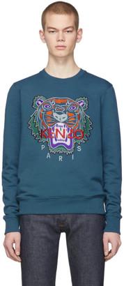 Kenzo Blue Limited Edition Holiday Tiger Sweatshirt