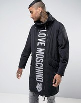 Love Moschino Padded Coat with Reversible Front Panel