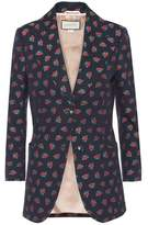 Gucci Printed cotton and wool blazer