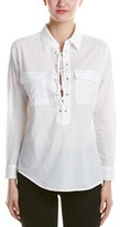 RD Style Lace-up Blouse.