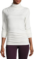 Max Studio Ruched-Seam Jersey Top, Ivory