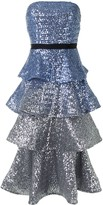 Thumbnail for your product : Marchesa Notte Sequined Tiered Dress