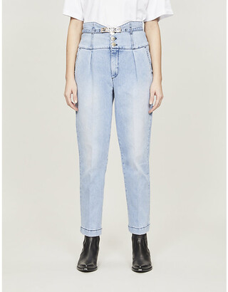 Pinko Ariel tapered high-rise stretch-denim jeans