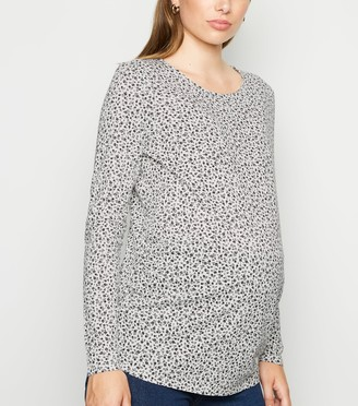 New Look Maternity Floral Long Sleeve T-Shirt
