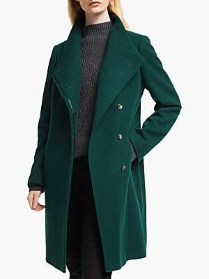 John Lewis & Partners Wool Rich Tailored Funnel Neck Coat