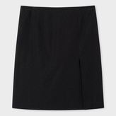Paul Smith Women's Black Textured Cotton-Blend Skirt