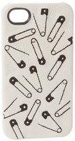 Bodhi Safety Pin Pattern Leather Bumper For iPhone 4 4S